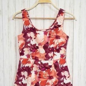 Ann Taylor Loft Petite Sleeveless Printed Dress